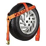 Vulcan ProSeries Bonnet Style Wheel Dolly Tire Harness w/Flat Hook, 1665 lbs SWL