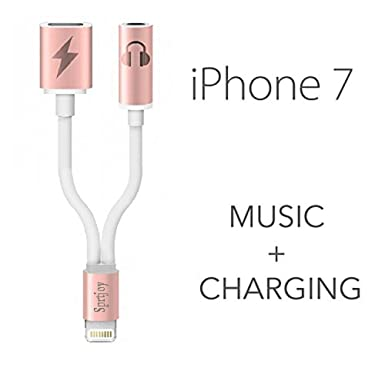 official photos 59cea 7f781 iPhone 7 Lightning to 3.5mm Audio Charge Earphone Jack Adapter Cable ...