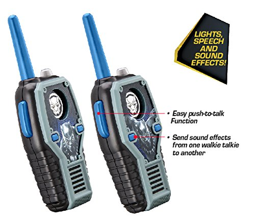 eKids Black Panther FRS Walkie Talkies with Lights & Sounds Kid Friendly Easy to Use by eKids (Image #2)