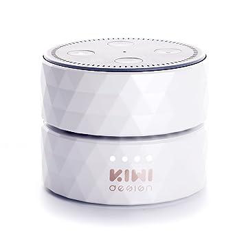 Akku für Dot 2, Dot 2 Akku 10000mAh Batteriestation, 17 Stunden Ununterbrochenen Gebrauch von KIWI design?Weiß )