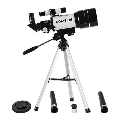 aomekie f30070mm Télescope astronomique terrestre avec trépied Réflecteur Lunette astronomique (300/70mm) Monoculaire de Réfraction 150x, 75x, 22,5x, 45x, 50&nbs