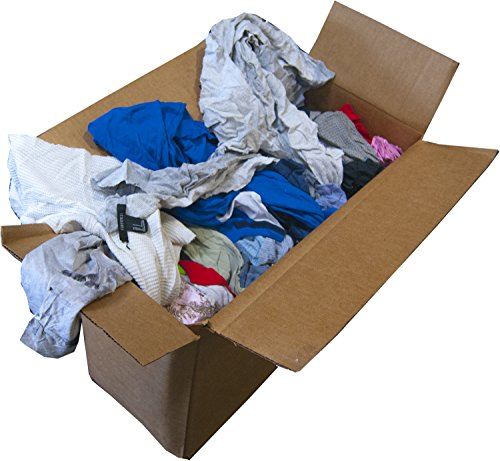 GPD 25 Pounds of Assorted Recycled T-Shirts, Shop Rags for Home, Garage, Garden Rags