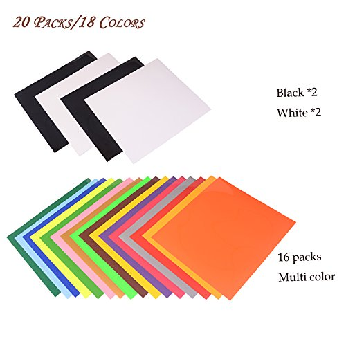 VINYL FROG HTV Heat Transfer Vinyl Bundle 20 Packs Assorted Colors 12
