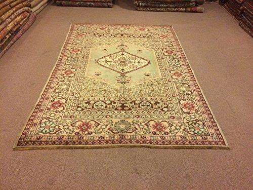 Medium Medallion (5.5x8.4 Feet Vintage Rug Handmade Carpet Handmade Medium Rug Handmade Medium Carpet Medallion Carpet Medallion Rug Code:KU348)