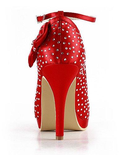 Fiesta 3 Punta Amarillo golden De 4in Azul Zapatos 4 Vestido 4in Noche Redonda tacones 3 negro Boda Rojo Morado tacones boda Y Rosa 4in purple Zq Blanco 1zwXq6