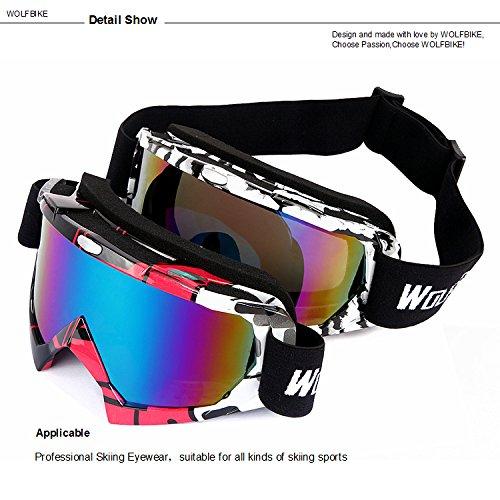 86666754808 New. WOLFBIKE UV400 Protection Snow Goggles Glasses Snowmobile Ski Skate  Sports