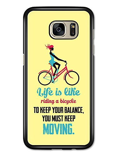a Bicycle Albert Einstein Life & Love Inspirational Quote case for Samsung Galaxy S7 Edge ()