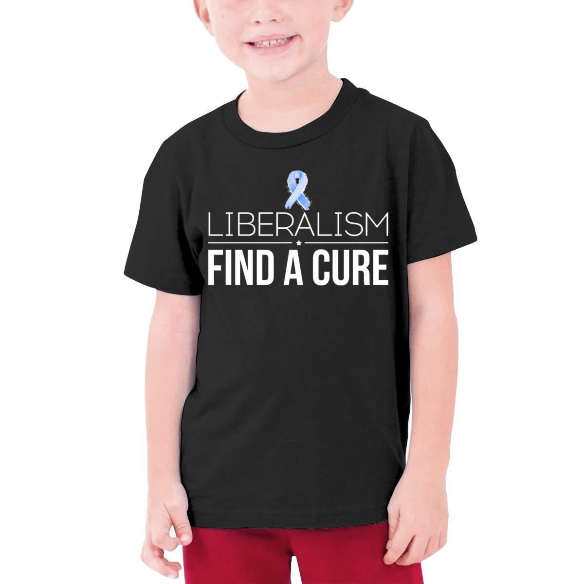 Negi Liberalism Find A Cure Boys Short-Sleeved Tee