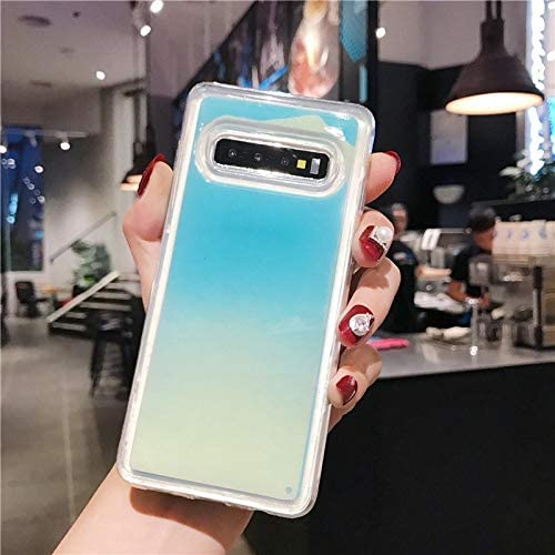 SHRHSJSJK Noctilucent Neon Sand Quicksand H/ülle f/ür Samsung Galaxy Note 10 Pro 8 9 S10 S9 Plus A9 A8 J8 J6 A70 A50 30 20 Dynamische H/ülle