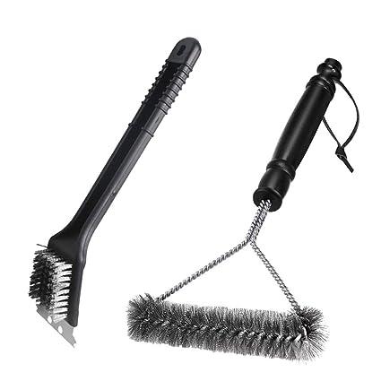 Amazon.com: Juego de cepillos para barbacoa, cepillo para ...