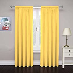 Pairs to Go 15110080X084MIM Cadenza 80-Inch by 84-Inch Microfiber Window Panel Pair, Mimosa