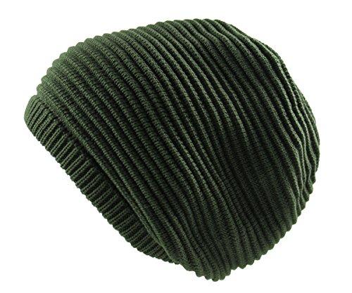 - RW Rasta 100% Cotton Knitted Beanie (Olive Green)