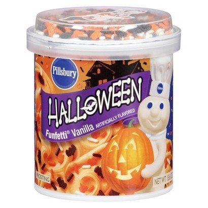 Pillsbury Halloween Funfetti Vanilla Frosting 15.6 oz. 3 Pack