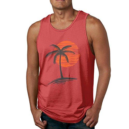 3fa1dafc1c3b4f Palm Tree Mens Sport Tanks Tops Shirt by Believe Ddspp