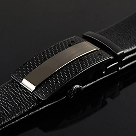 QIUPING Mens fashion business automatic buckle belt