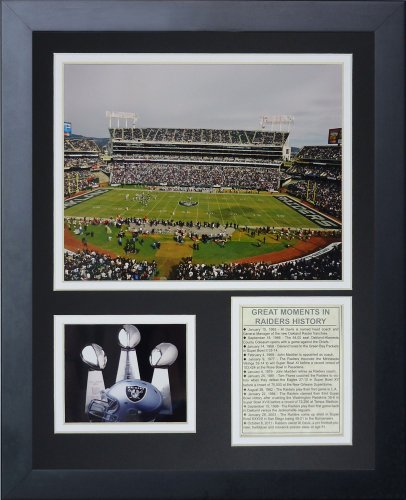 Legends Never Die Oakland Raiders Stadium Framed Photo Collage, - Oakland Raiders Wall Decorations