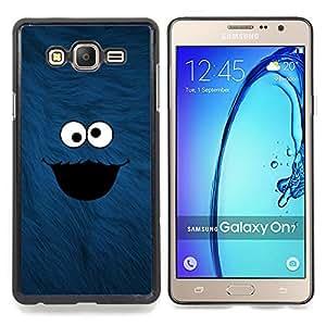 """Qstar Arte & diseño plástico duro Fundas Cover Cubre Hard Case Cover para Samsung Galaxy On7 O7 (Cookie Monster"""")"""