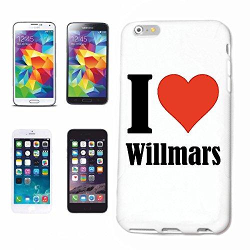 """Handyhülle iPhone 4 / 4S """"I Love Willmars"""" Hardcase Schutzhülle Handycover Smart Cover für Apple iPhone … in Weiß … Schlank und schön, das ist unser HardCase. Das Case wird mit einem Klick auf deinem"""