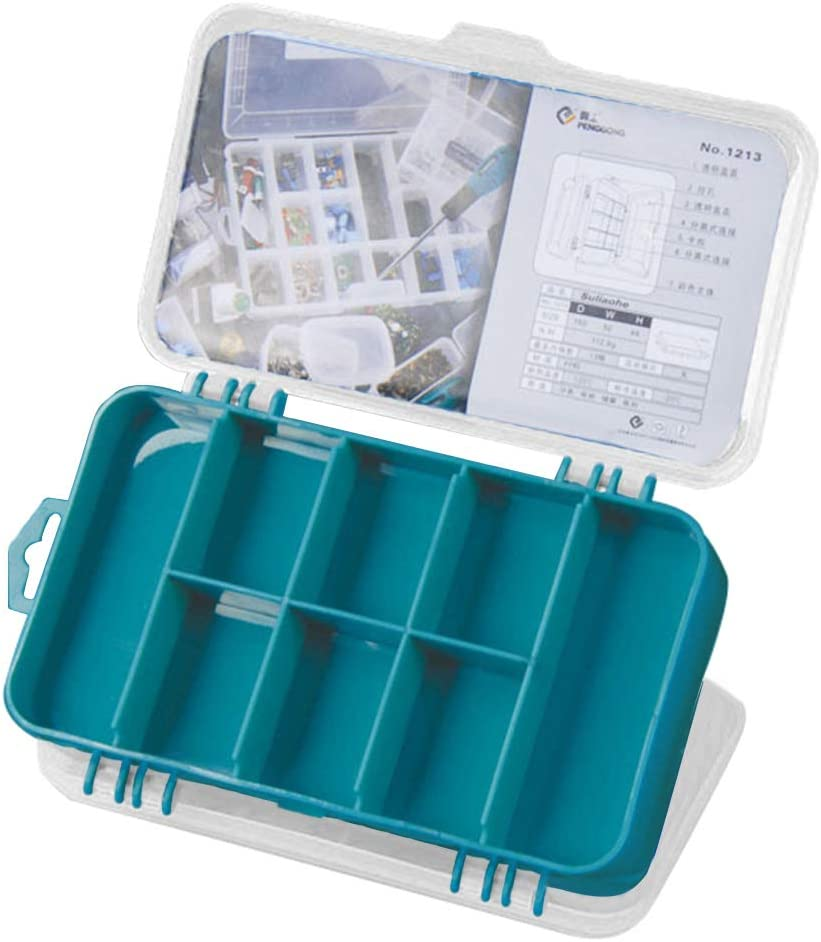 Hand Tools,dezirZJjx Portable Multi-Grid Toolbox Screws Hardware Parts Box Storage Case Organizer Green