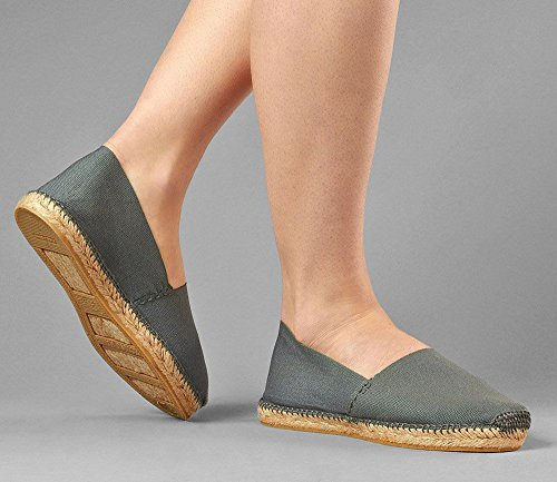 Men's DIEGOS Espadrilles Grey Made Hand in Women's Spain RRwqZ57A
