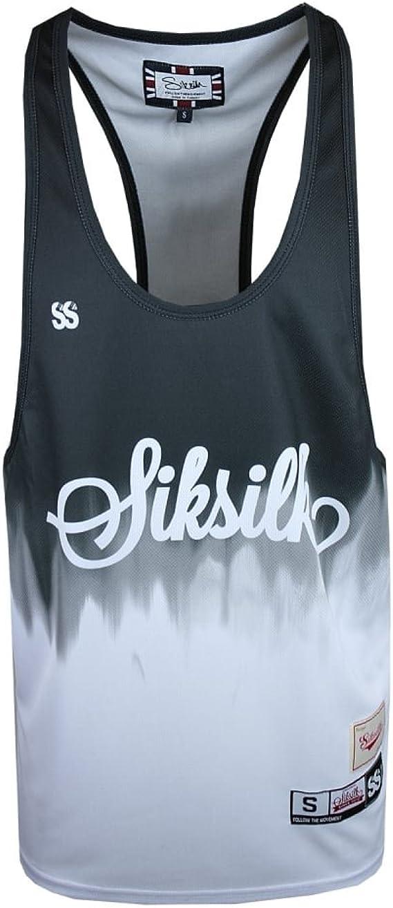 SikSilk - Camiseta de tirantes - Sin mangas - para hombre Negro Blk: Amazon.es: Ropa y accesorios