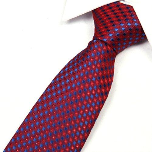 "TOPTIE Men's Diamond Woven Tie 3.2"" Inch Necktie Tie - Various Colors - BLUE"