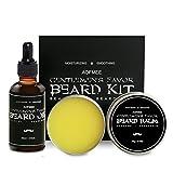 #9: Aofmee Beard Oil and Balm Kit for Moisturizing, Taming, Strengthening & Growth - Men's Beard Care Grooming Gift Set for Dad, Husband, Boyfriend, Friends - 2 fl.oz & 2.12oz