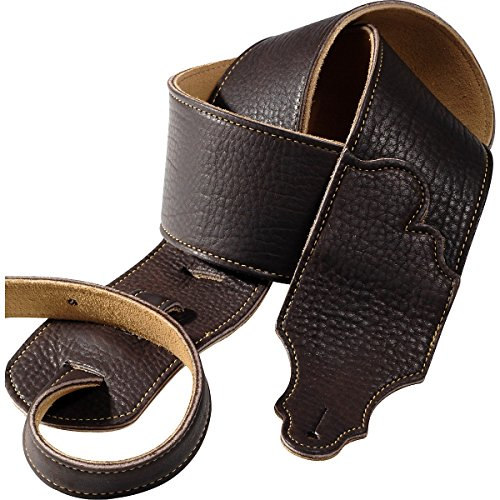 franklin-strap-3-chocolate-leather-guitar-strap-with-gold-stitching