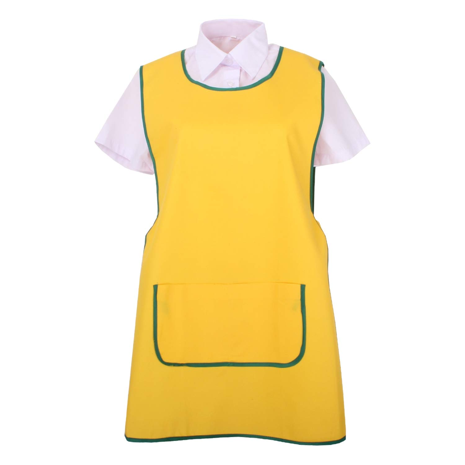 Yellow Ref.868 Large Apron Cleaning Work Uniform Clinic Hospital Cleaning Veterinary Sanitation Hostelry MISEMIYA