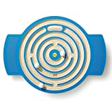 German Wooden Toy Labyrinth Trackboard, 62 x 47 x 6cm