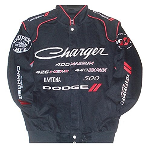 Dodge Charger Embroidered Cotton twill Jacket Size Xlarge (Cotton Embroidered Jacket)