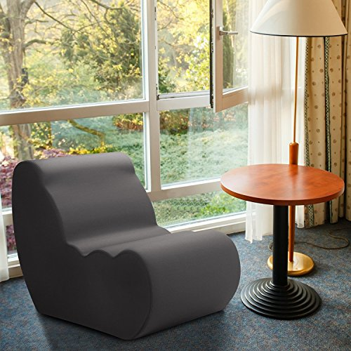 Zinus Vivon Comfort Foam, Contemporary Accent Furniture Chair For Dorm/Bedroom/Family  Room/Game Room/Cloud, Charcoal