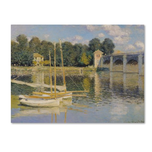 The Bridge at Argenteuil by Claude Monet work, 24 by 32-Inch Canvas Wall ()