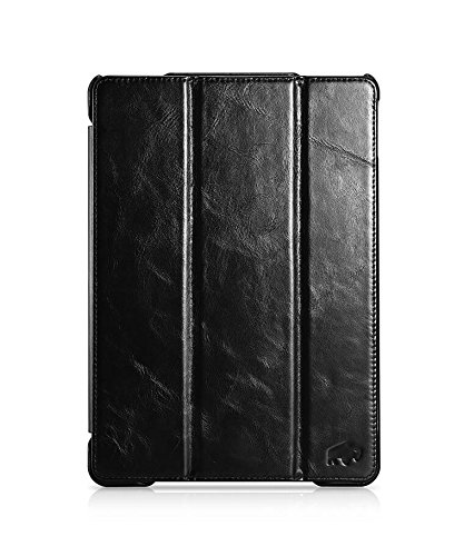 Burkley Premium Leather Smart Folio Case for Apple iPad Pro 10.5'' | Handmade Leather with waterproof interior | Black by Burkley Case