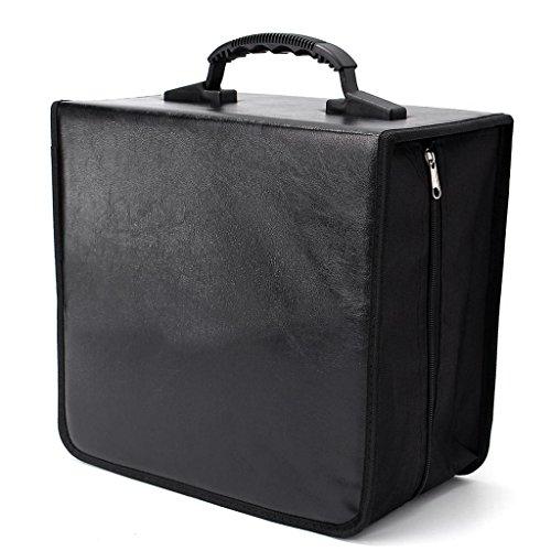 - gazechimp 520 Disc CD Box, DVD Case Card Holder Carrying Bag Organizer Wallet & Zipper Closure for Car CD Storage