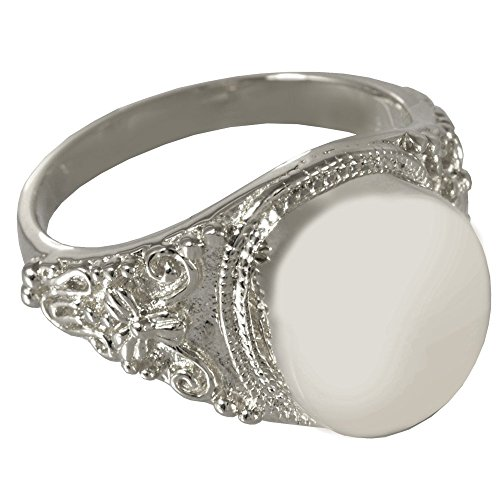 Memorial Gallery 2004p-9 Round Ring Platinum (Allow 4-5 Weeks) Cremation Pet Jewelry, Size 9