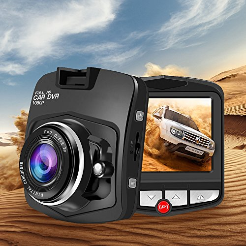 SSONTONG Car dash cam 2.31'' FHD 1080P Car Driving Camera DVR Video Recorder with Night Vision, G-Sensor, Parking Monitoring, Motion Detection, Loop Recording(black)