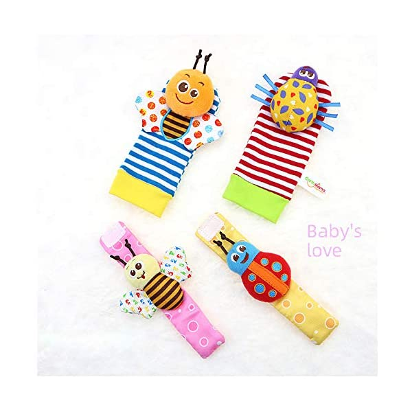Wrist Rattles Foot Finder Rattle Sock Baby Toddlor Toy,