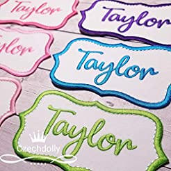 Name Patch Iron-on or Sew-on Applique Em...