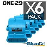 ONE-29 Air mover Carpet dryer 3-Speed 2.9 AMPS with GFCI 4-unit Daisy Chain Capability BLUE 6-PACK