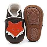 HONGTEYA Baby Moccasins with Fur Fleece Rubber