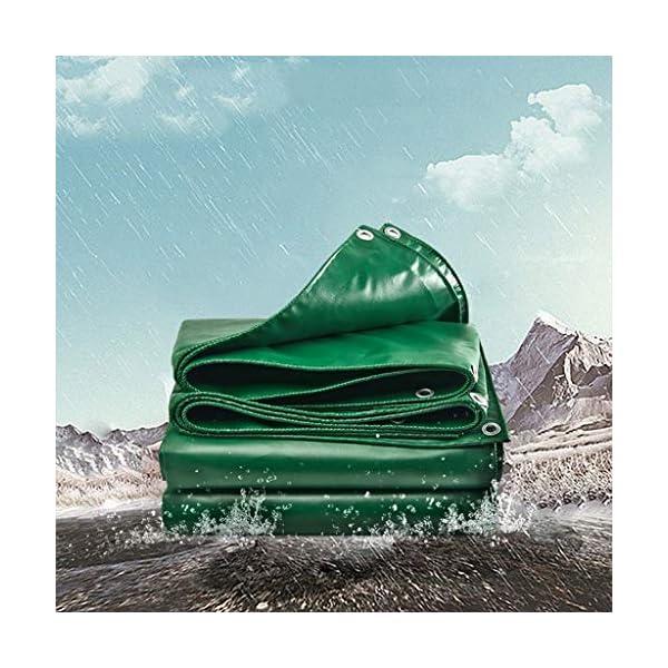 DUWEN Telo di copertura impermeabile in PVC spesso, multiuso, per giardino, campeggio, viaggi, grande tenda 6 x 10 m. 4 spesavip