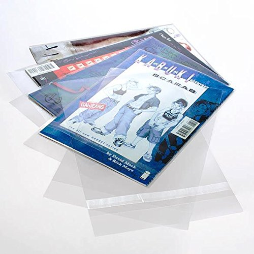ClearBags 7 x 10 Clear Comic Book Bags | Perfect for Comic Books, Art, or Memorabilia | Protects from Wear and Tear | Resealable Adhesive | Acid Free and Archival Safe | COMIC2PC (Pack of 100)