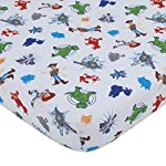 Disney-2-Pack-Toddler-Fitted-Crib-Sheet-Standard-Size-Pillowcase-Set-Toy-Story-4-Blue-Green-Red-White
