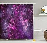 Ambesonne Purple Decor Collection, Nebula Gas Cloud