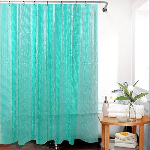 Green Tree Cortina de ducha de EVA 3D con ganchos resistentes al moho antibacteriano para bao cortina de ducha, 72