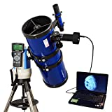 Blue 6'' GPS Computer Controlled Reflector Telescope with 14MP Digital USB Camera