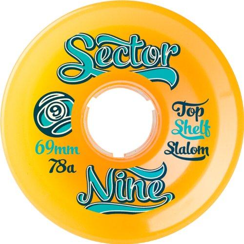Sector 9 Top Self Nine Balls Skateboard Wheel, Orange, 69mm 78A