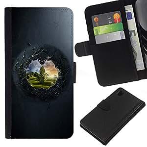All Phone Most Case / Oferta Especial Cáscara Funda de cuero Monedero Cubierta de proteccion Caso / Wallet Case for Sony Xperia Z1 L39 // View To The Other Side