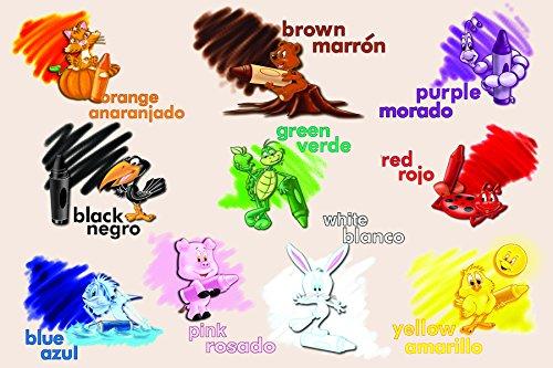 Price comparison product image Melissa & Doug Bilingual Colors Cardboard Floor Puzzle (24 pcs) - Spanish and English